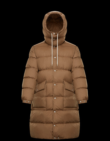 ROUBAUD Camel Long Down Jackets Man