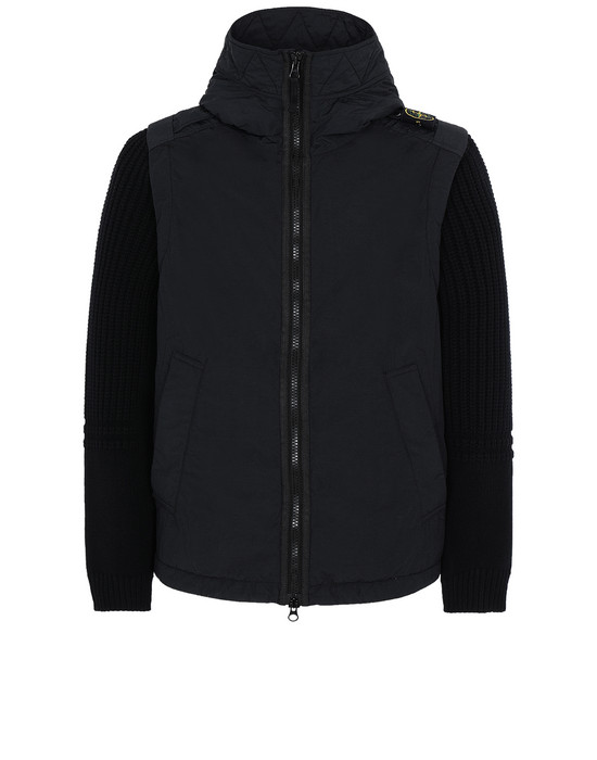 STONE ISLAND 43732 NASLAN LIGHT WATRO WITH PRIMALOFT®-TC 캐주얼 재킷 남성 블랙