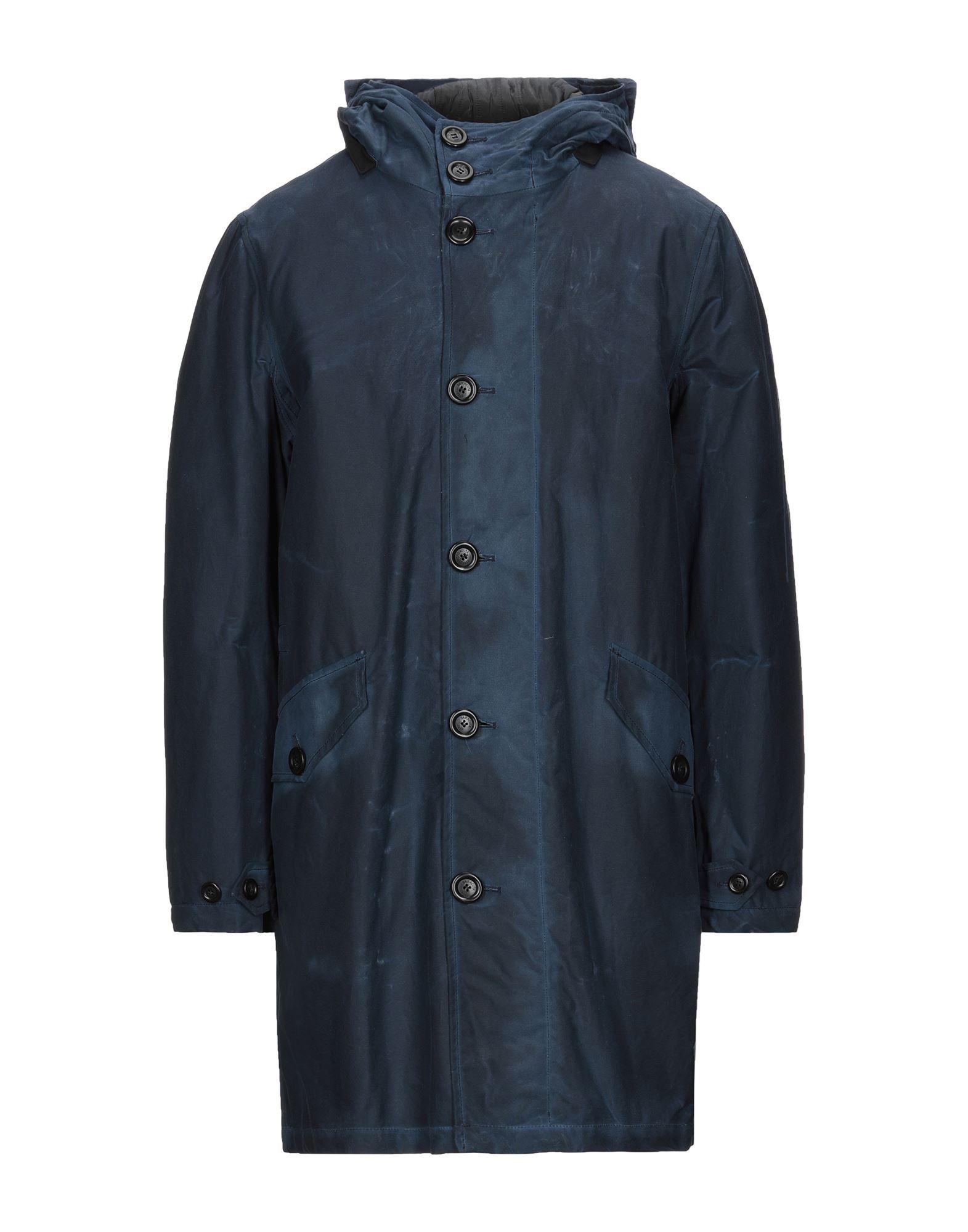 《セール開催中》BARACUTA メンズ コート ダークブルー 44 コットン 100% / ポリエステル