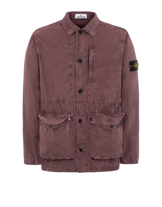 STONE ISLAND  439WN T.CO 'OLD' 	 Jacket Man Dark Burgundy