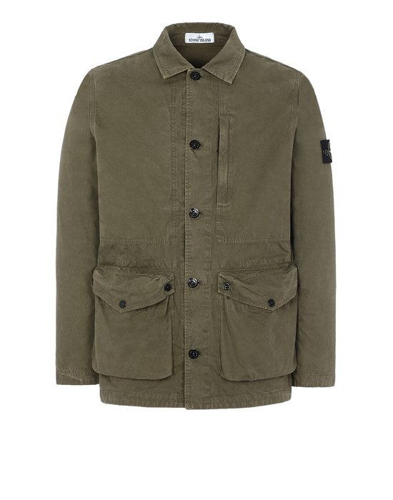 STONE ISLAND  439WN T.CO 'OLD' 	 Jacket Man Olive Green