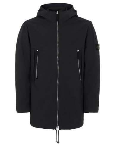 STONE ISLAND 40627 LIGHT SOFT SHELL-R e.dye® TECHNOLOGY  Mid-length jacket Man Blue USD 578