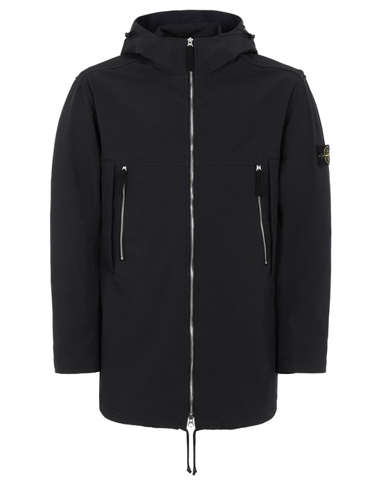 Mid-length jacket Man 40627 LIGHT SOFT SHELL-R e.dye® TECHNOLOGY Front STONE ISLAND