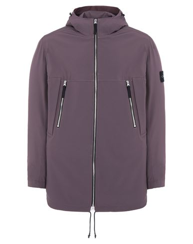 STONE ISLAND 40627 LIGHT SOFT SHELL-R e.dye® TECHNOLOGY  Mid-length jacket Man Dark Burgundy EUR 589
