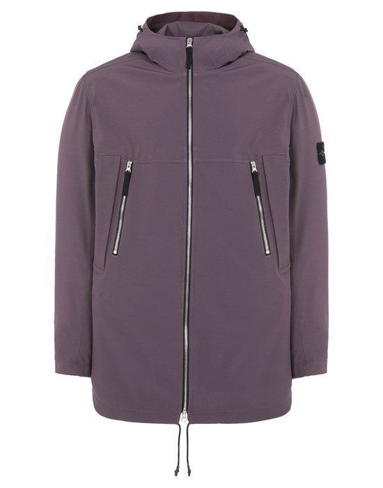 STONE ISLAND 40627 LIGHT SOFT SHELL-R e.dye® TECHNOLOGY  Mid-length jacket Man Dark Burgundy