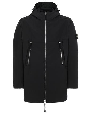 STONE ISLAND 40627 LIGHT SOFT SHELL-R e.dye® TECHNOLOGY  Mid-length jacket Man Black USD 578