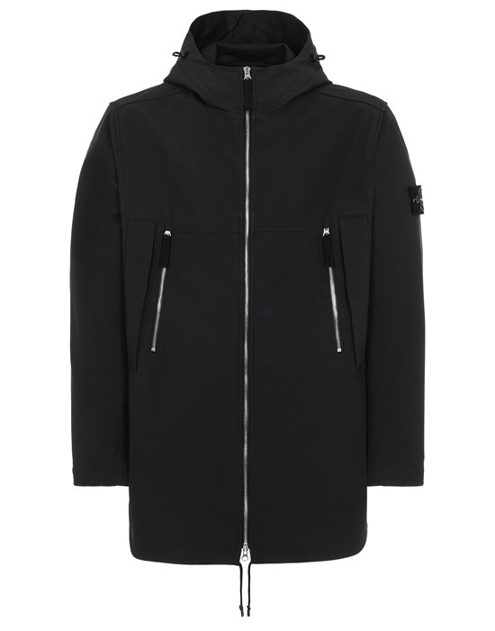 Mid-length jacket Man 40627 LIGHT SOFT SHELL-R e.dye® TECHNOLOGY Front STONE ISLAND