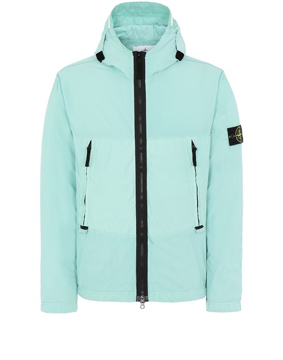 STONE ISLAND 40131 SKIN TOUCH NYLON-TC Jacket Man Aqua