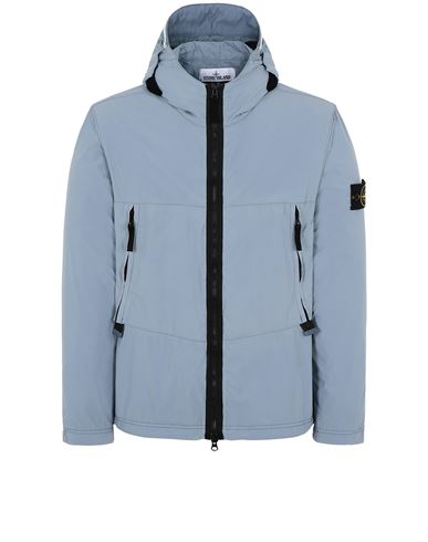 STONE ISLAND 40131 SKIN TOUCH NYLON-TC Jacket Man Pastel Blue EUR 356