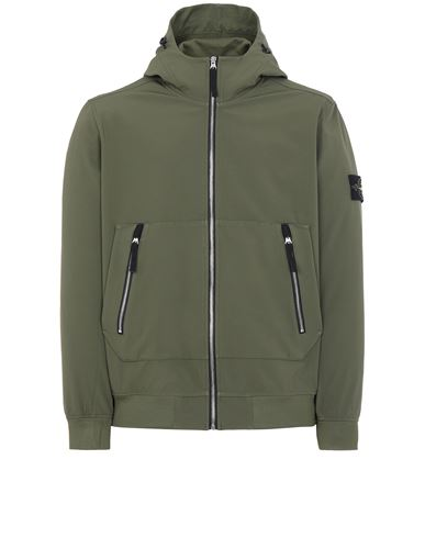 STONE ISLAND 40727 LIGHT SOFT SHELL-R_e.dye® TECHNOLOGY Jacke Herr Olivgrün EUR 469