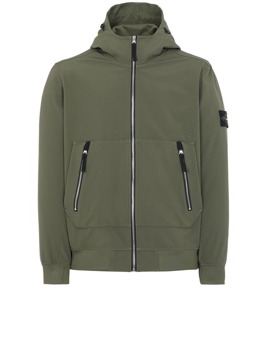 STONE ISLAND 40727 LIGHT SOFT SHELL-R_e.dye® TECHNOLOGY Jacket Man Olive Green