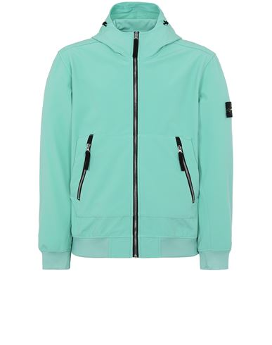 STONE ISLAND 40727 LIGHT SOFT SHELL-R_e.dye® TECHNOLOGY Jacket Man Aqua EUR 469