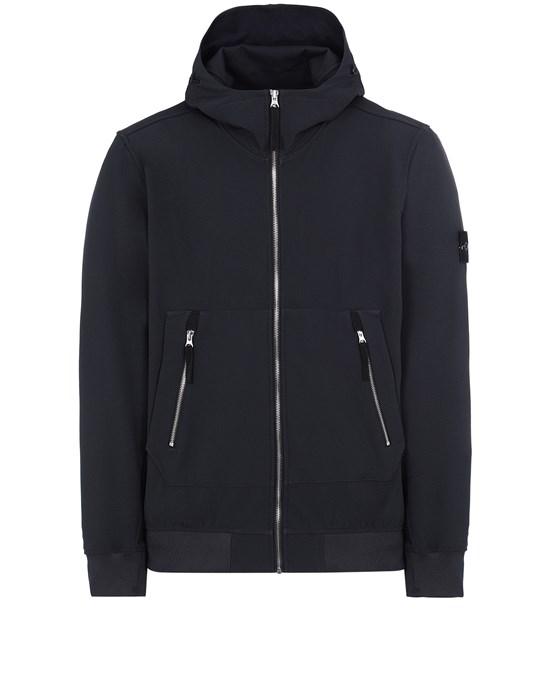Jacket Man 40727 LIGHT SOFT SHELL-R_e.dye® TECHNOLOGY Front STONE ISLAND