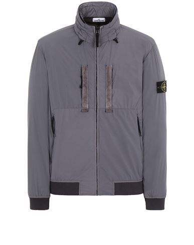 STONE ISLAND 42631 SKIN TOUCH NYLON-TC  Jacket Man Blue Grey USD 578