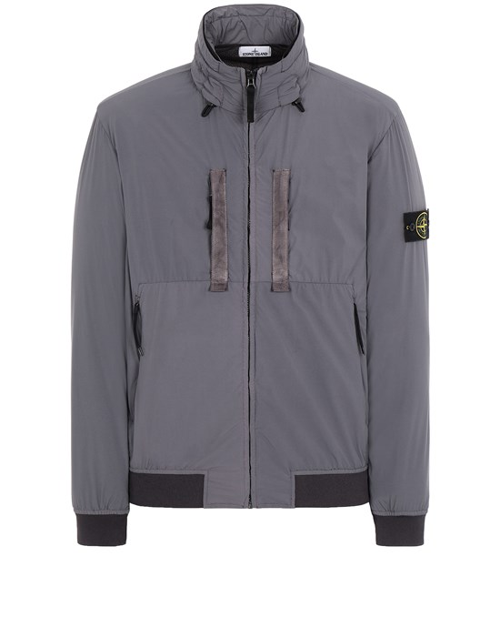 STONE ISLAND 42631 SKIN TOUCH NYLON-TC  Jacket Man Blue Grey