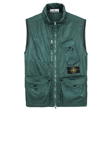 STONE ISLAND G0430 NYLON RASO-TC Vest Man Dark Teal Green USD 606