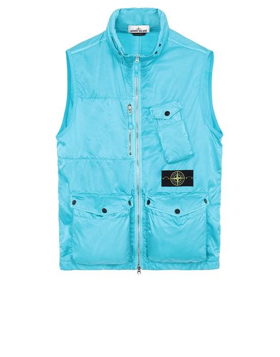 STONE ISLAND G0430 NYLON RASO-TC Vest Man Turquoise