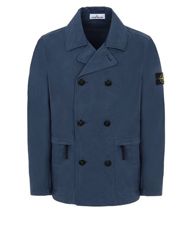STONE ISLAND 41421 COTTON/CORDURA®  Jacket Man Avio Blue EUR 589