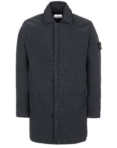 STONE ISLAND 43233 NYLON BATAVIA-TC Mid-length jacket Man Black EUR 719