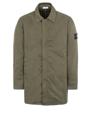 STONE ISLAND 43233 NYLON BATAVIA-TC  Mid-length jacket Man Olive Green USD 1072