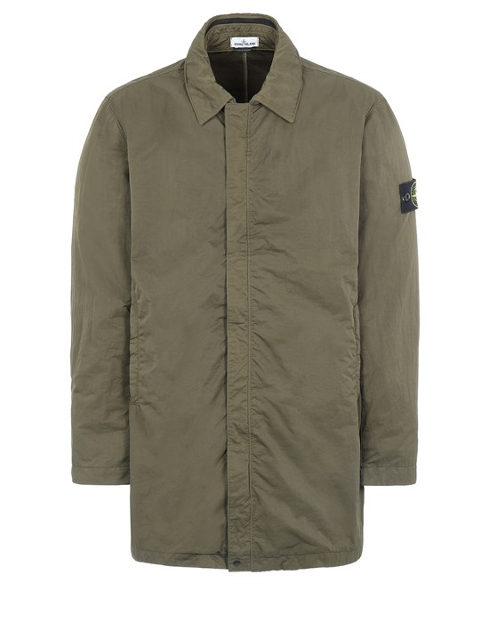 STONE ISLAND 43233 NYLON BATAVIA-TC Mid-length jacket Man Olive Green