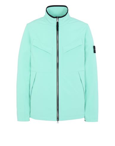 STONE ISLAND 40827 LIGHT SOFT SHELL-R_e.dye® TECHNOLOGY  Blouson Homme Aqua EUR 499