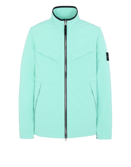 STONE ISLAND 40827 LIGHT SOFT SHELL-R_e.dye® TECHNOLOGY  Jacket Man Aqua