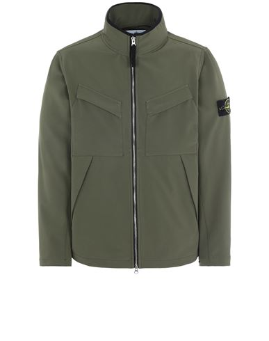 STONE ISLAND 40827 LIGHT SOFT SHELL-R_e.dye® TECHNOLOGY  休闲夹克 男士 橄榄绿色 EUR 545