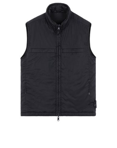STONE ISLAND G05F1 GHOST PIECE<br>STRETCH WOOL NYLON - REVERSIBLE Waistcoat Man Blue EUR 632