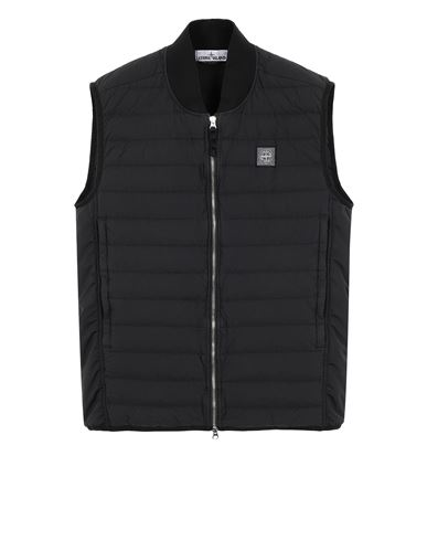 STONE ISLAND G0225 LOOM WOVEN DOWN CHAMBERS STRETCH NYLON-TC Waistcoat Man Black EUR 396