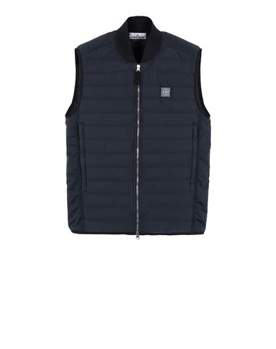 STONE ISLAND G0225 LOOM WOVEN DOWN CHAMBERS STRETCH NYLON-TC Vest Man Blue USD 428