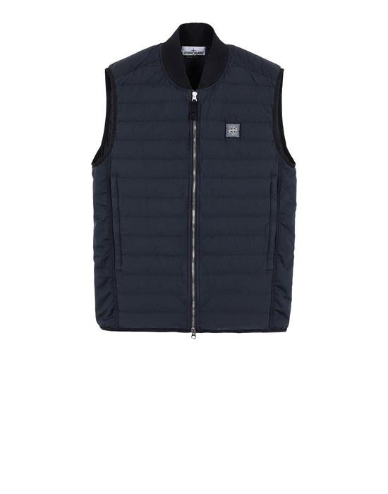 STONE ISLAND G0225 LOOM WOVEN DOWN CHAMBERS STRETCH NYLON-TC Vest Man Blue