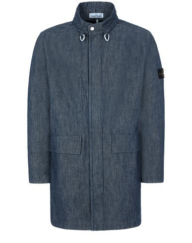 STONE ISLAND 70647 MAC CHAMBRAY 3L  Mid-length jacket Man Wash EUR 774