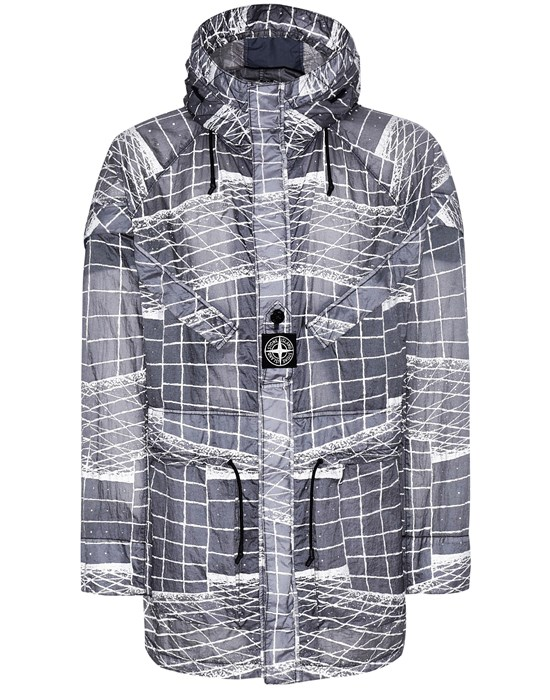 STONE ISLAND 42999 REFLECTIVE GRID ON LAMY-TC  Parka Man Blue Grey