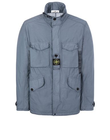 STONE ISLAND 41732 NASLAN LIGHT WATRO  Jacket Man Mid Blue EUR 759