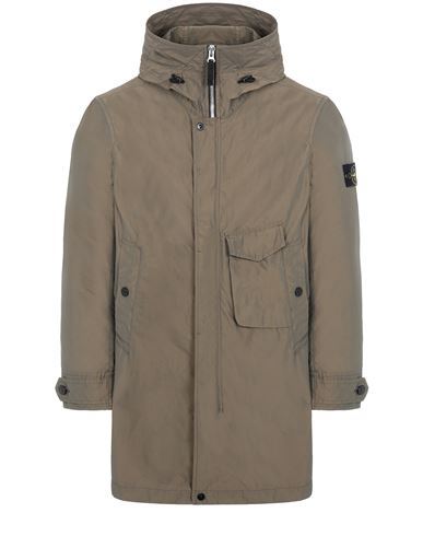 STONE ISLAND 70222 MICRO REPS  Mid-length jacket Man Olive Green EUR 695