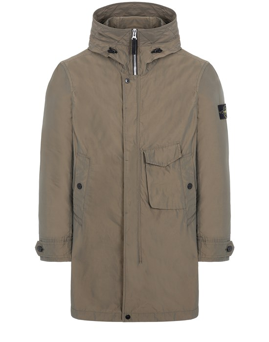 STONE ISLAND 70222 MICRO REPS  Mid-length jacket Man Olive Green