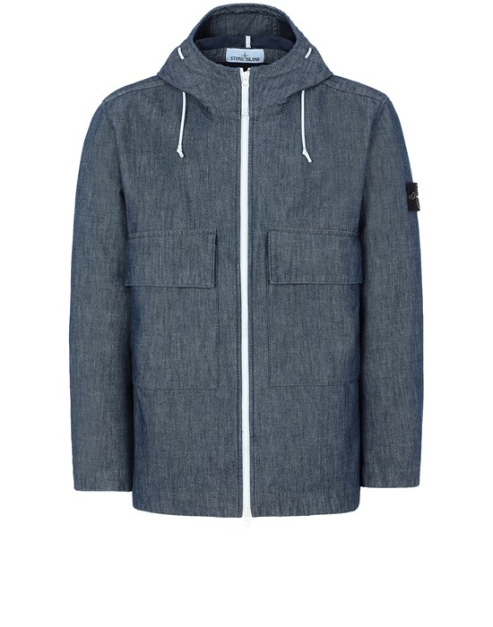Jacket Man 43747 MAC CHAMBRAY 3L Front STONE ISLAND
