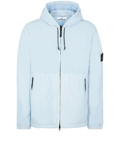 STONE ISLAND 42731 SKIN TOUCH NYLON-TC Jacket Man Sky Blue EUR 559