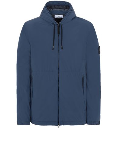 STONE ISLAND 42731 SKIN TOUCH NYLON-TC Jacket Man Avio Blue EUR 559