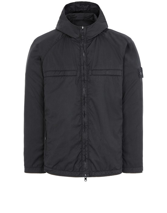 STONE ISLAND 441F1 GHOST PIECE_STRETCH WOOL NYLON<br>REVERSIBLE Jacket Man Black