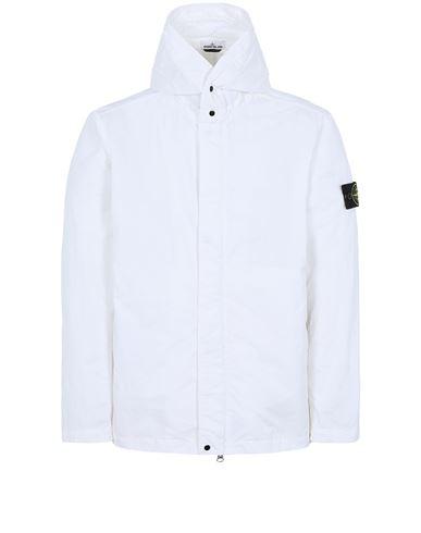 STONE ISLAND 43333 NYLON BATAVIA-TC Jacket Man White EUR 575