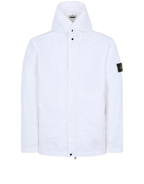 STONE ISLAND 43333 NYLON BATAVIA-TC Jacket Man White