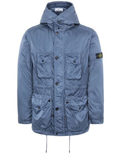 STONE ISLAND 44430 NYLON RASO-TC Jacket Man Avio Blue USD 860