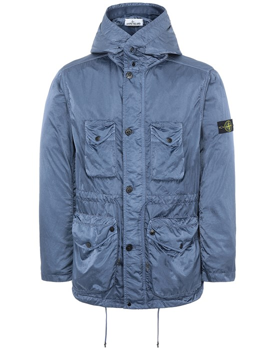 STONE ISLAND 44430 NYLON RASO-TC Jacket Man Avio Blue