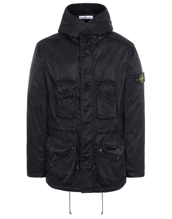 STONE ISLAND 44430 NYLON RASO-TC Jacket Man Black