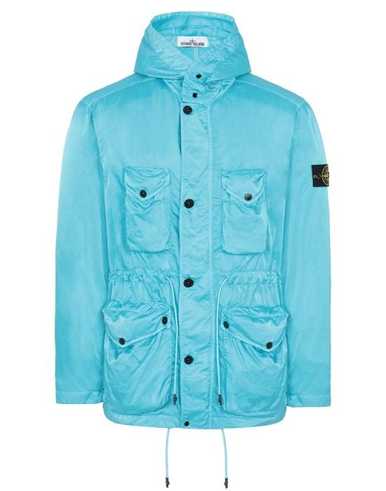 STONE ISLAND 44430 NYLON RASO-TC Jacket Man Turquoise