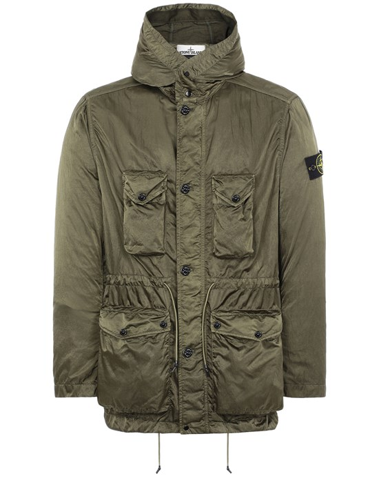 STONE ISLAND 44430 NYLON RASO-TC Jacket Man Olive Green