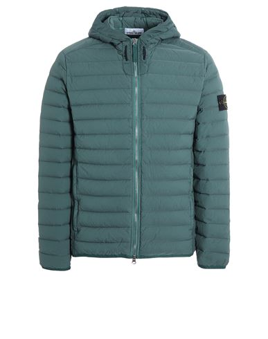 STONE ISLAND 44525 LOOM WOVEN DOWN CHAMBERS STRETCH NYLON-TC Jacket Man Dark Teal Green EUR 596
