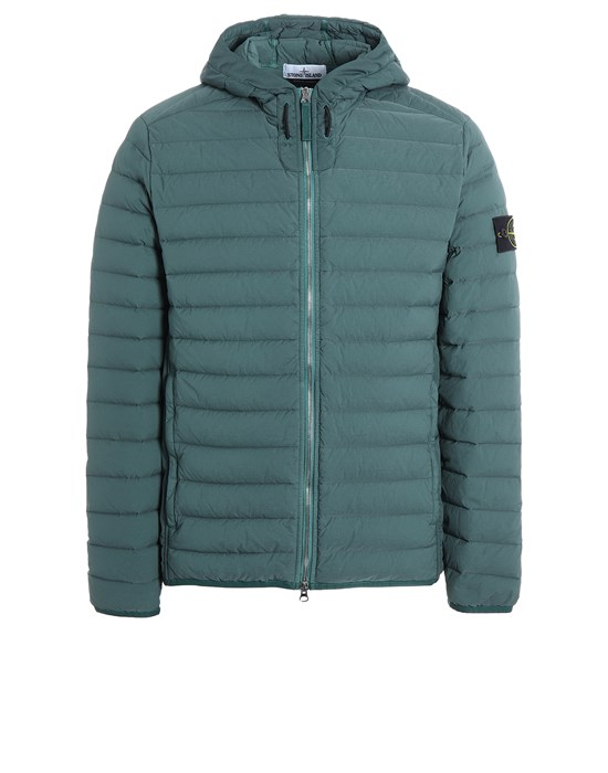 STONE ISLAND 44525 LOOM WOVEN DOWN CHAMBERS STRETCH NYLON-TC Jacket Man Dark Teal Green